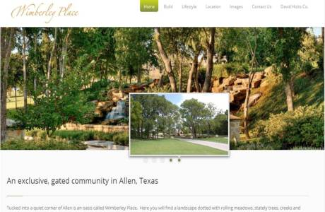 Wimberley Place website home page