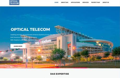 Optical Telecom website home page